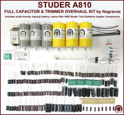 Electronic capacitor & update components overhaul kit for Studer A810