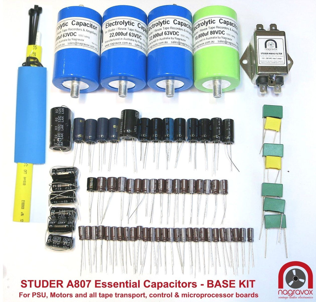 Electronic Tape Systems capacitor overhaul kit for Studer A807