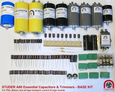 Electronic capacitor upgrade overhaul kit for Studer A80 A80R A80QC 1/4