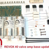 Electronic capacitor & rectifier overhaul kit for Revox model 40 valve amplifier