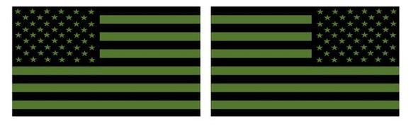 American Flag-Tactical Green
