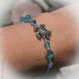 Turtle Love Swarovski & Czech Crystal Turtle Bracelet