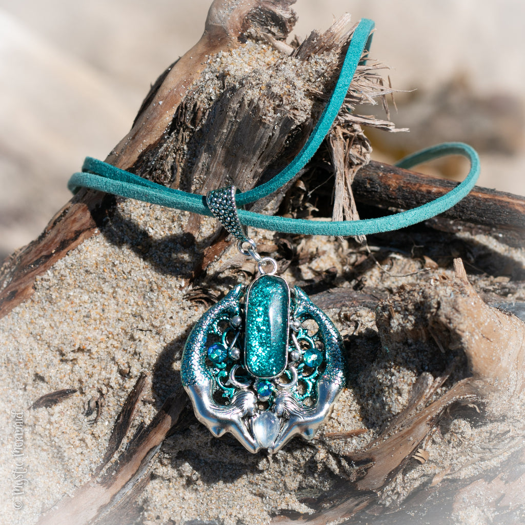 Mermaids honouring the Moon Pendant Feature Necklace