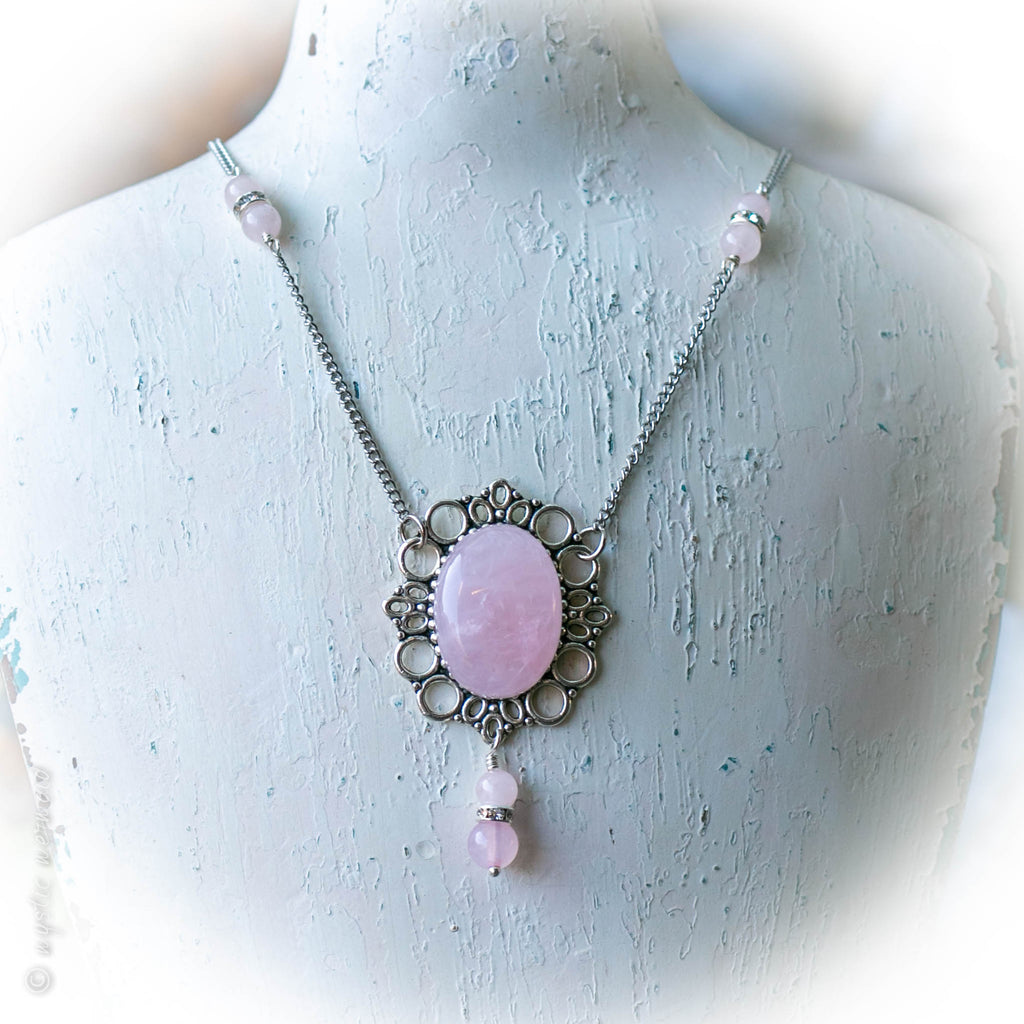 Love Bubbles Rose Quartz Necklace