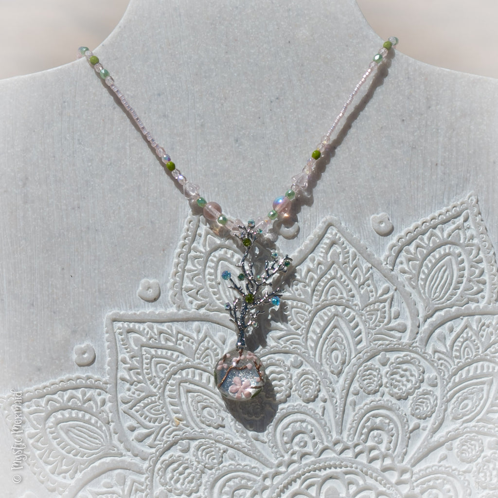 Blooms and Blossoms 3D Feature Crystal Necklace