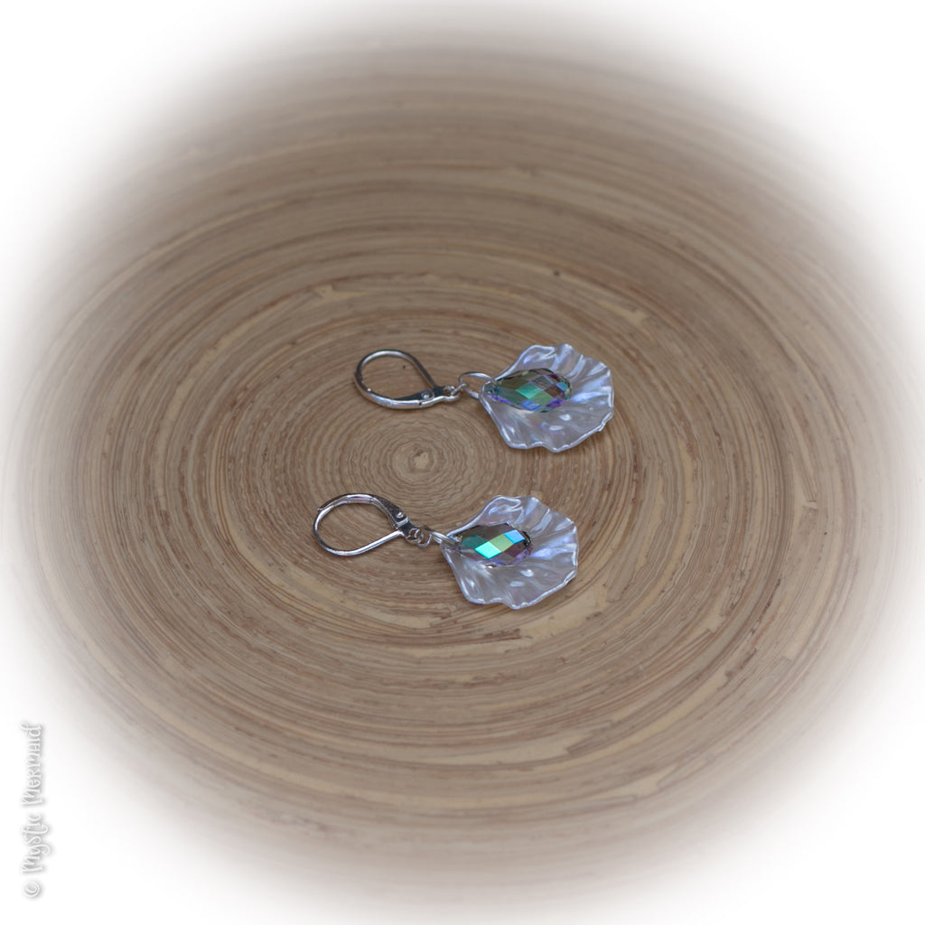 Mermaid in Paradise 925 Sterling Silver Leverback earrings