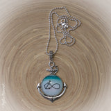 Infinity plus one - Love Anchor Pendant with Necklace