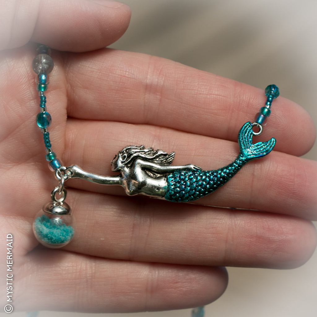 CUSTOM Mermaid's Treasure necklace for Ann