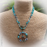 Peace and Delight Czech Crystal Necklace