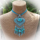 Sea Bliss - Mystic Mermaid Couture - Larimar and Silk Necklace