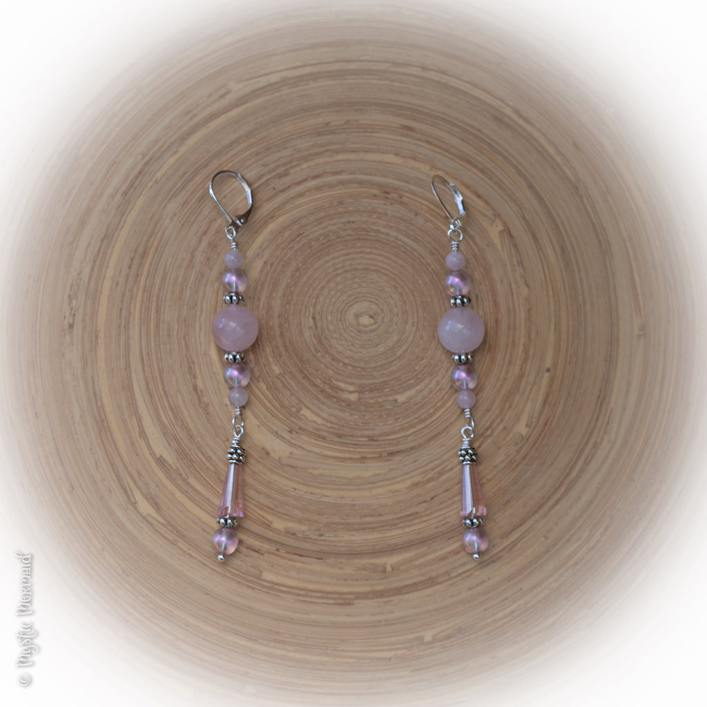 Love Bubbles – Rose Quartz Earrings