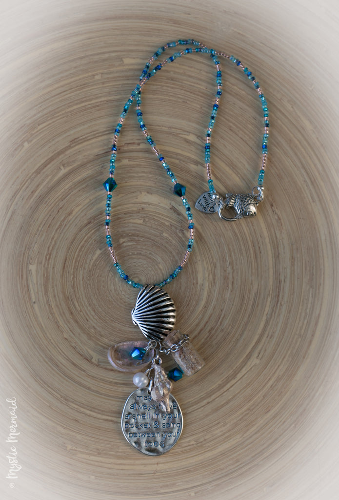 Sea Shell Beach Blessing Necklace