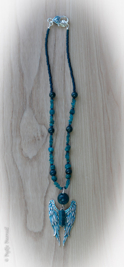 Blue Heaven Apatite Angel Necklace
