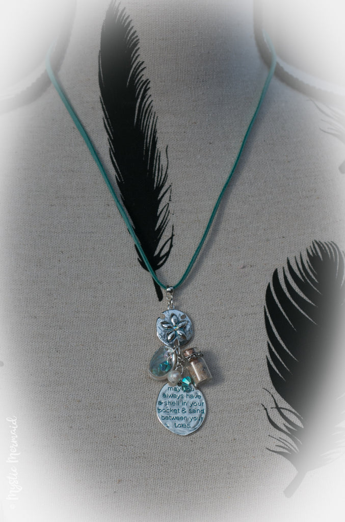 Sand Dollar Beach Blessing Necklace