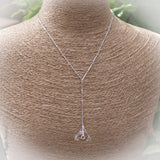 Quartz Crystal Sphere Sacred Geometry Sterling silver necklace