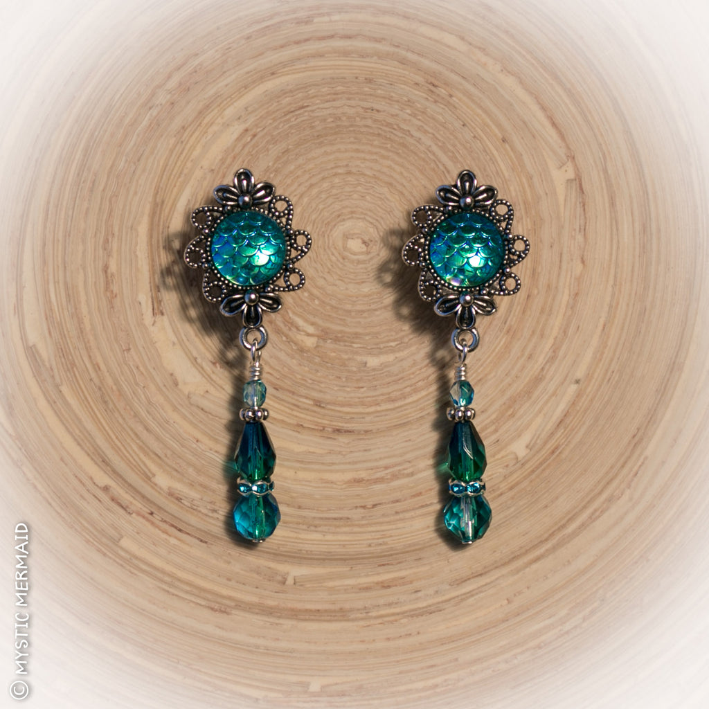 "Mermaid at Heart ""dancer back"" earrings"