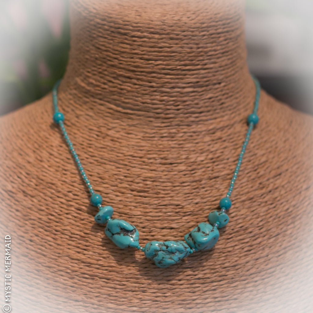Bohemian Bliss - Turquoise Magnesite Necklace