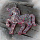 Pink Unicorn Sparkle Bag Charm