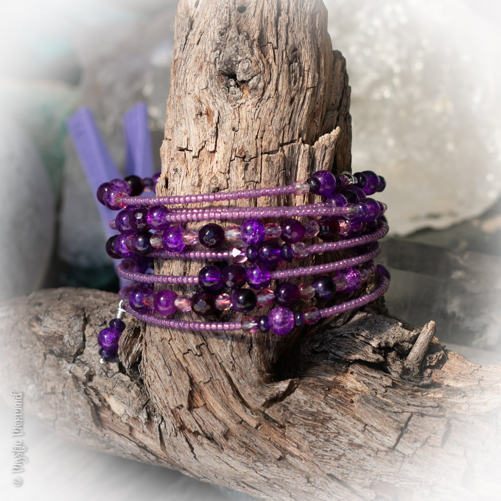 Purple Delight Memory Wrap bracelet