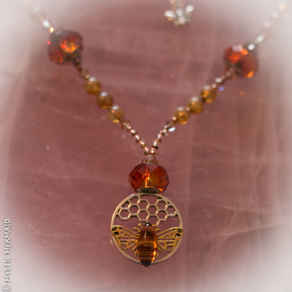 Queen Bee Vintage Swarovski Crystal Necklace