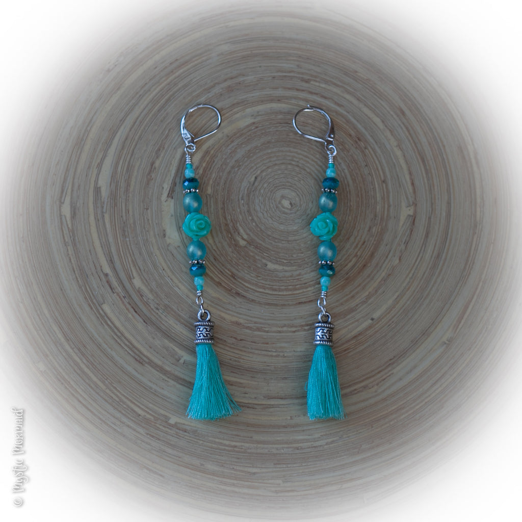 Turquoise Delight 925 Sterling Silver Leverback Earrings