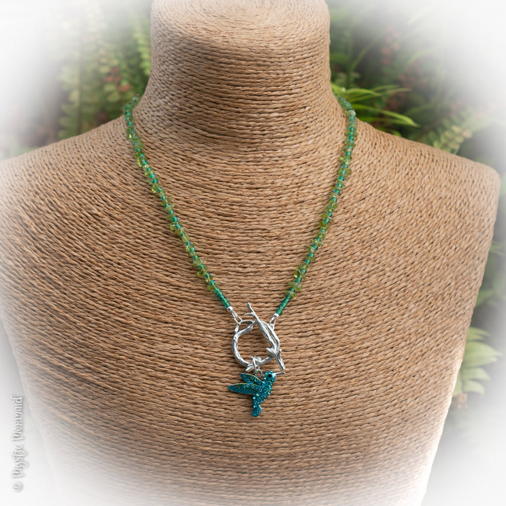 Hummingbird Bliss Peridot Necklace