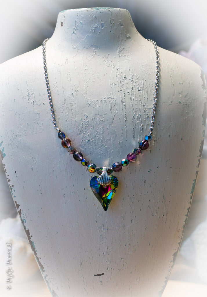 Mystic Love Swarovski Heart Necklace