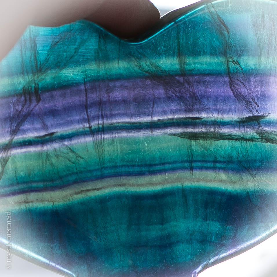 Rainbow Fluorite Whale Tail - Purples, Blues, Greens