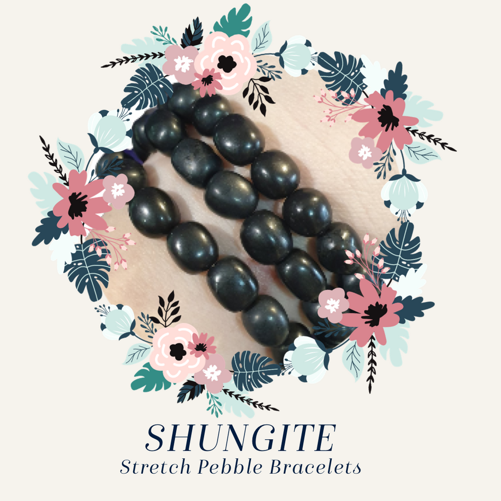 Shungite Stretch Pebble Bracelet