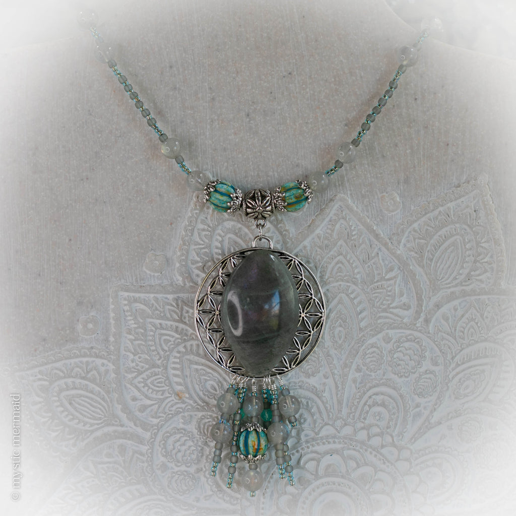 Sea Gypsy Dreaming Labradorite OOAK Necklace