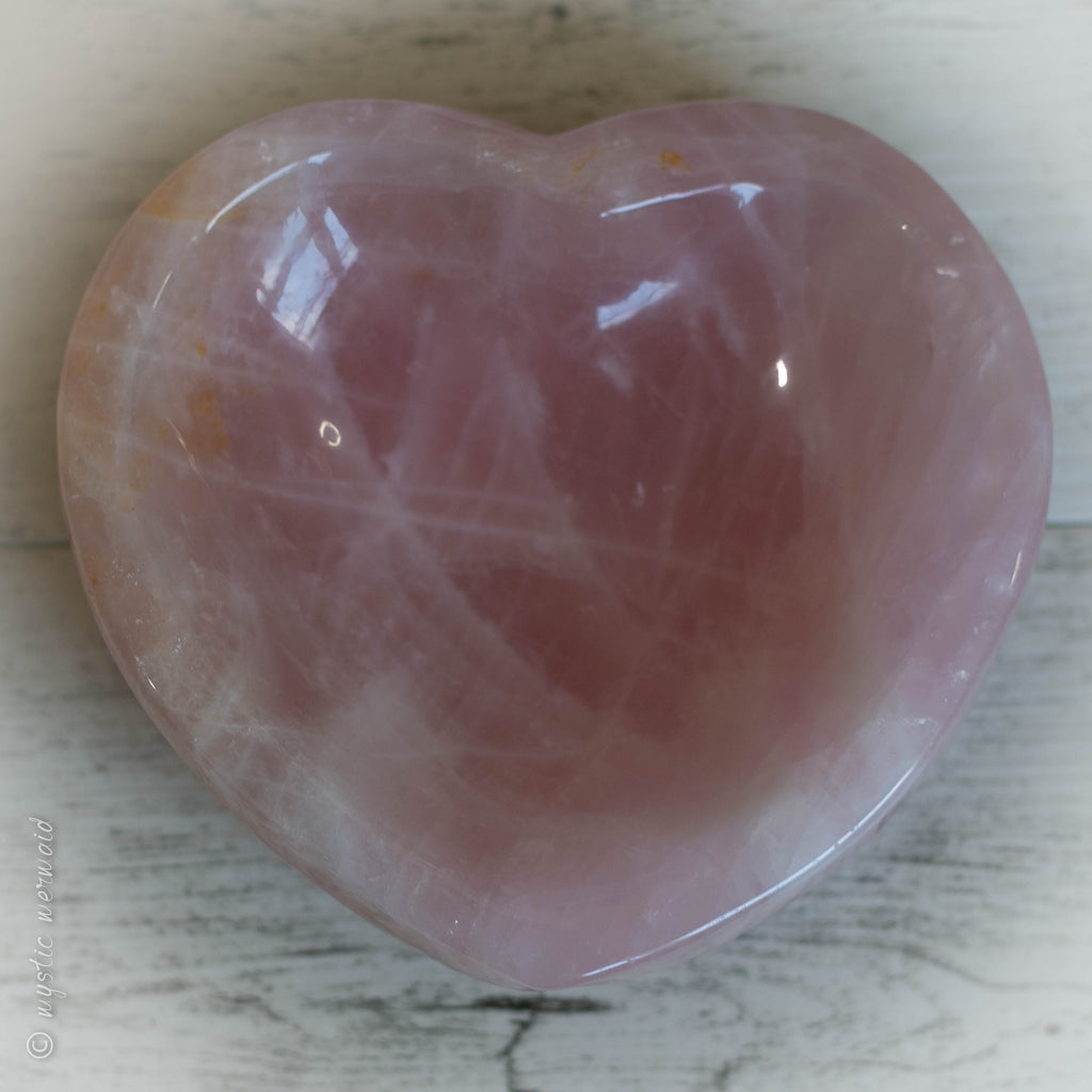 XXL Rose Quartz Heart Shaped Bowl