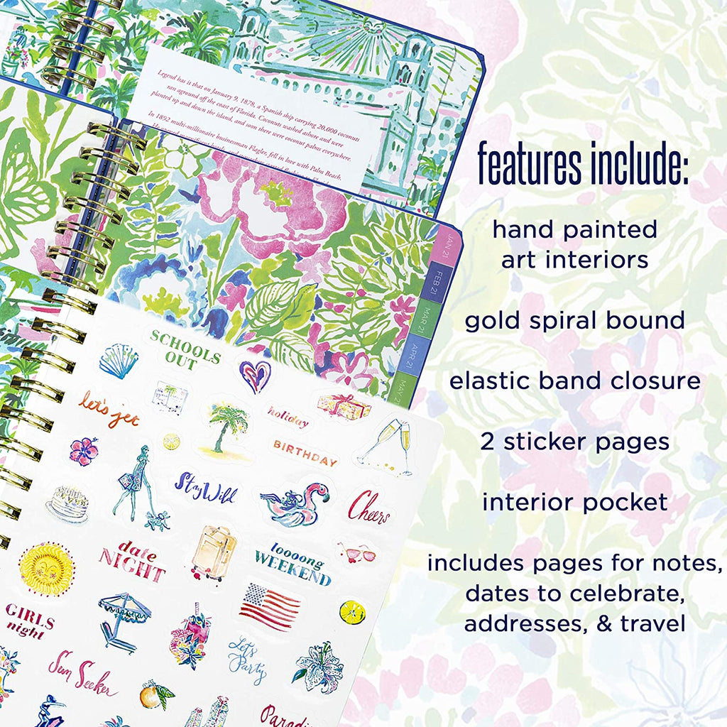 Lilly Pulitzer August 2020 to December 2021 Medium Planner in Turtle Villa