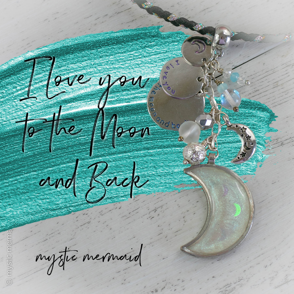 I Love You To the Moon and Back Lunar Sparkle Necklace