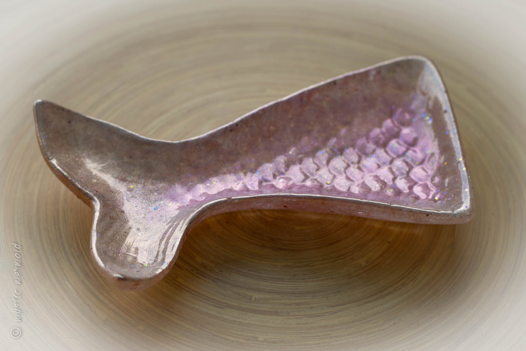 Mermaid Tail Rose Quartz and Citrine Trinket Dish
