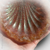 Sea Shell Treasure Plate featuring Citrine, Rose Quartz and Large Starfish