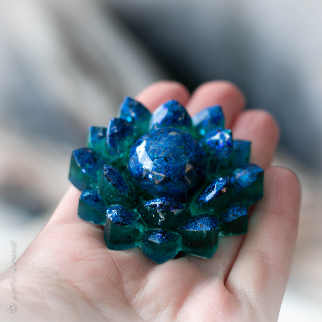Night Sky - Lapis Lazuli Lotus Flower Treasured Treat