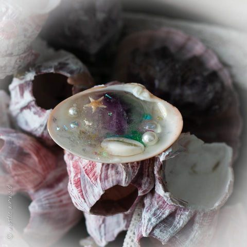 Treasured Treat Rainbow Flourite Rock Pool with AquaCrystal Caviar