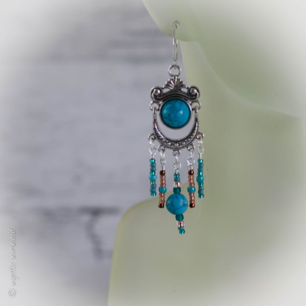 Turquoise Tribe 925 Sterling Silver Earrings