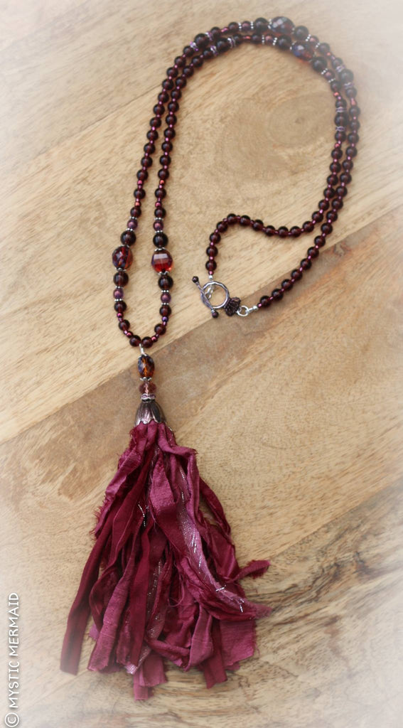 Regal Ruby Mala Necklace