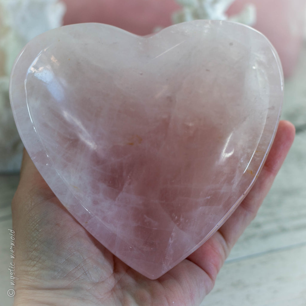 Rose Quartz Heart Shaped Bowl