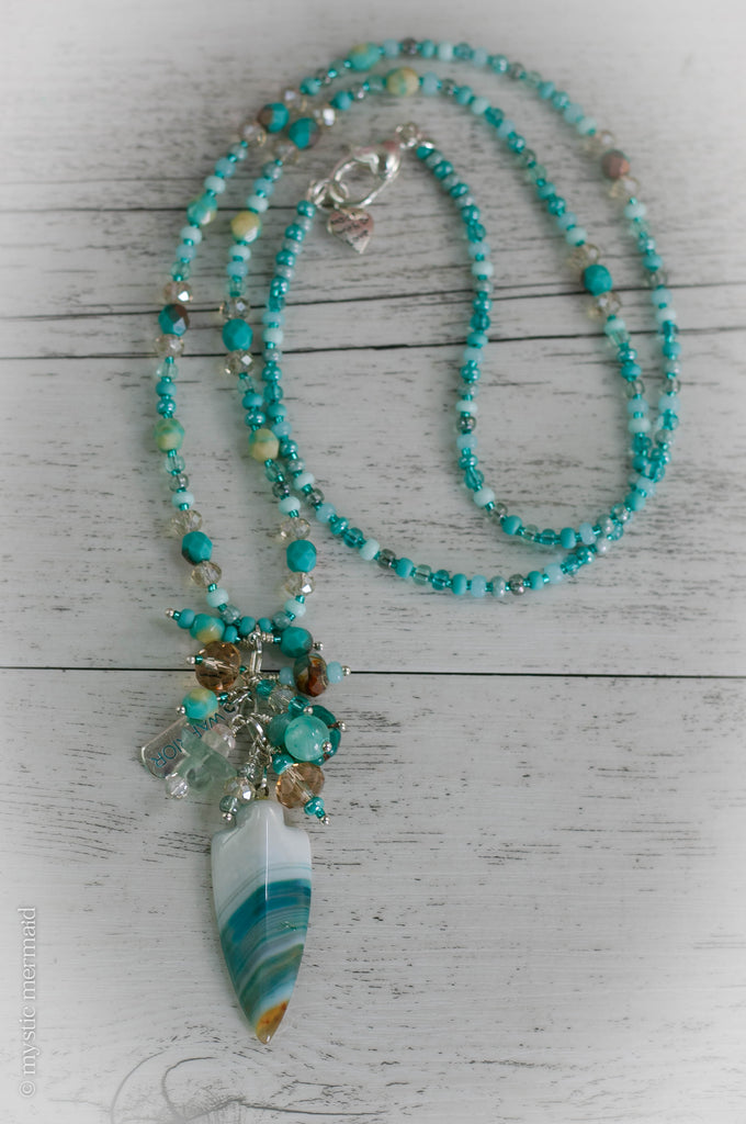 Warrior of the Divine Agate Feature Necklace