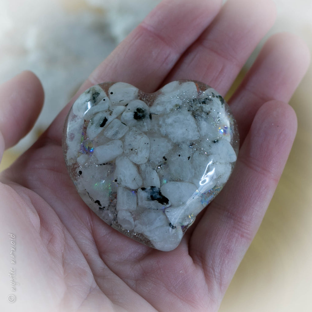 Rainbow Moonstone Treasured Treat Heart