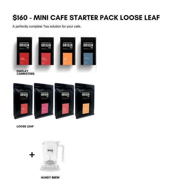 Mini Cafe Starter - Loose Leaf Kit Tea Leaves & Tea Bags- Origin Tea