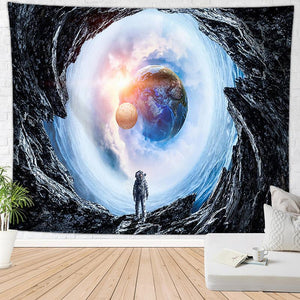 Astronaut With Earth View Tapestry