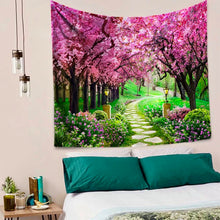 Load image into Gallery viewer, Cherry Blossom Path Tapestry