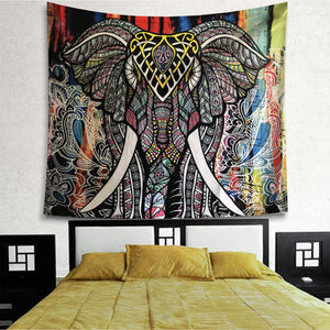 Elephant Full Patterns Tapestry