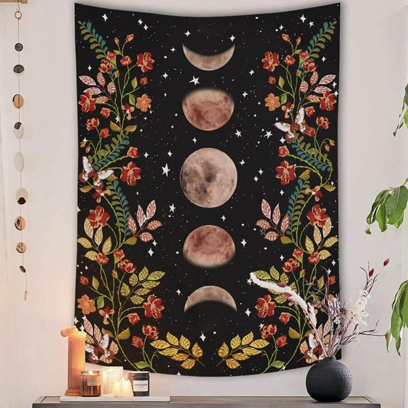 Lunar Phases Tapestry