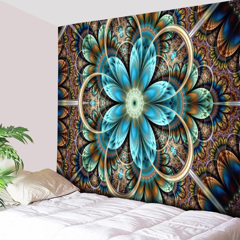 Psychedelic Flower Tapestry