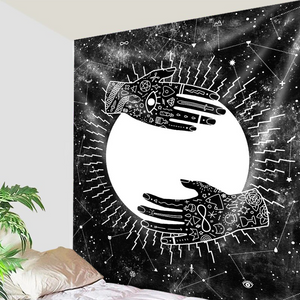 Hands Holding Moon  Tapestry