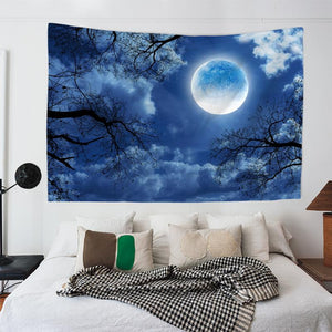 Full Moon Forest Tapestry